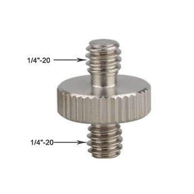 2pcs 1/4'' to 1/4'' Inch Male Threaded Screw Adapter For Camera Tripod Bracket