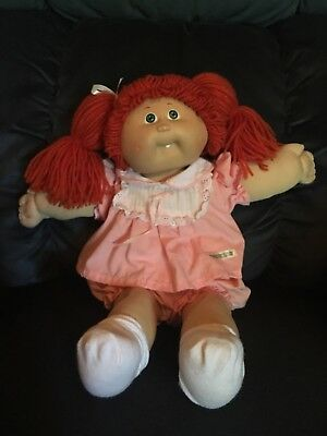 Cabbage Patch - 1985 Coleco Redhead, Green Eyes, Dimples, One Tooth, CPK Outfit