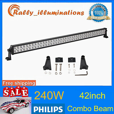 7D Tri-Row 42Inch 540W Led Light Car Combo Driving Drl Boat 4Wd Ute Jeep Pk 240W