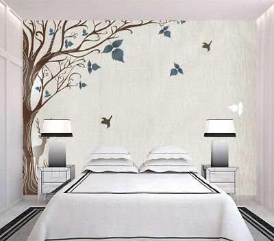 Butterfly Tree 3D Full Wall Mural Photo Wallpaper Printing Home Kids Decoration