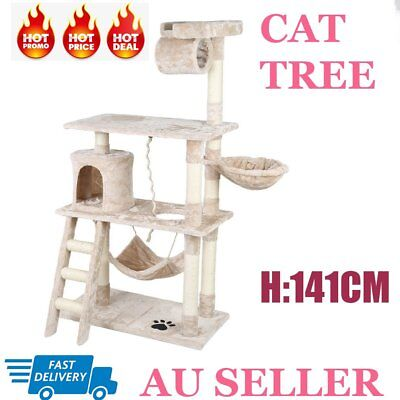 Cat Scratching Post Tree Scratcher Pole Furniture Gym House Toy Small 141cm TT