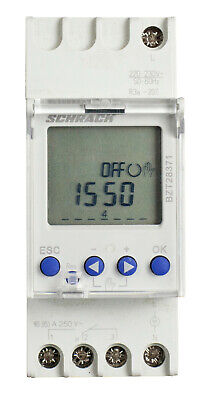 Digital time clock weekly/daily function 230V AC, 1 channel 1CO 16A / 250V AC