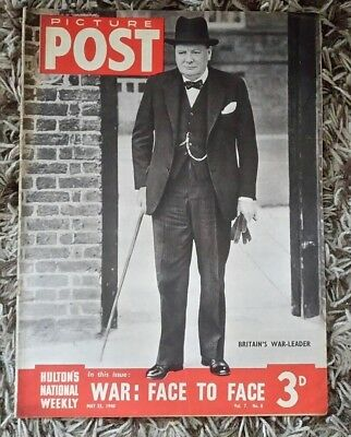 Picture Post Magazine 25th May 1940 Vol.7  No.8