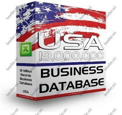 19M ACTIVE USA Email Database Marketing list includes:tel-fax-website-address