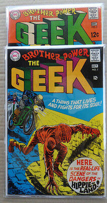 Brother Power , The Geek  1,2 . Lot Complet .DC 1968 .VF / NM