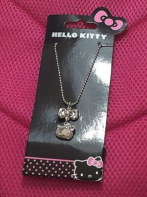 Sanrio Hello Kitty Girls Lady's Necklace Bow Cat Pendant BNWT Cute Gift Birthday