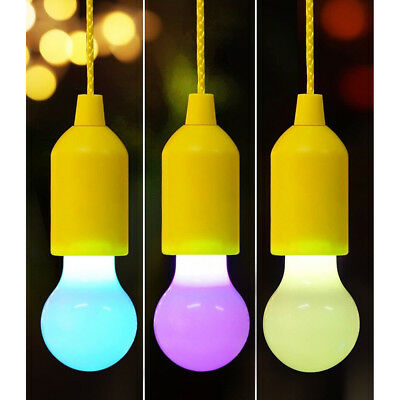 Rope Reading Lamp Pull Cord Chandelier Camping Hanging Light LED Pull Cord Bulb