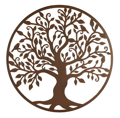 Tree of Life Metal Hanging Wall Art *99 cm* Rust Rustic Hanging Sculpture Garden