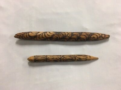 Vintage Carved Aboriginal Clapsticks