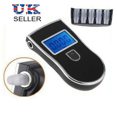 Alcohol Breath Tester Breathalyser Tester Detector LCD Digital w/ Mouthpieces