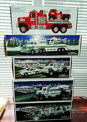 1995, 2011, 2013, 2014, 2015 Hess Truck collection..New/! Mint!!!