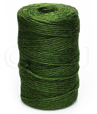 60m Green Jute Twine Ball Of Garden Tie Back String 100g Roll Plant Line Branch