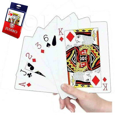 Assorted Jumbo Extra Large Giant Playing Cards Poker Whist Games Gambling Gaming
