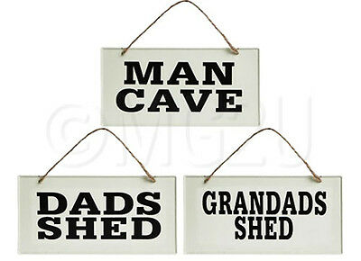 Man Cave Dads Grandads Shed Metal Screen Sign Board Hanging Home Plaque Hang