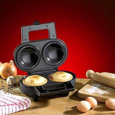 Hairy Bikers Twin Deep Pie Maker Non Stick Extra Thick Beef Chicken Cooker RP£60