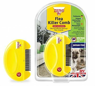 Stv Electric Flea Killer Comb For Pet Cats & Dogs Kills Eggs Fleas Poison Free