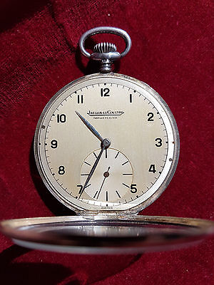 Jaeger le Coultre Pocket watch SILVER Taschenuhr um 1945