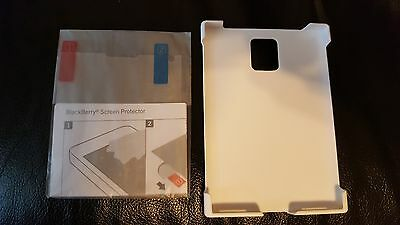 Genuine BlackBerry Passport White Hard Shell with Screen Protector HDW-59325-002