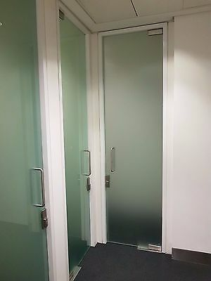 Frosted Toughened Glass Single Doors With Frames & All Fittings For £99 Each
