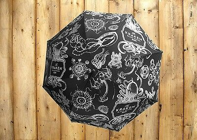 NEW Kraken Rum Umbrella Octopus Design NEW