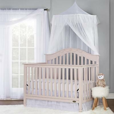 Dream On Me Charlotte 4-in-1 Convertible Crib - Blush Pink