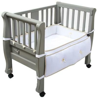 Arm's Reach Concepts Sleigh Bed Co-Sleeper(R) Bedside Bassinet - Grey