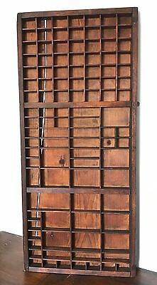 Antique Vintage Wooden Printer's Tray / Ornament  Wall Display