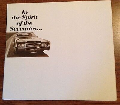 In the spirit of the seventies Cadillac brochure