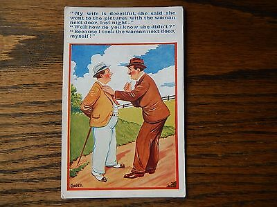 Gould, Vintage Seaside Humour Postcard, #3729  in Good Condition 1930s