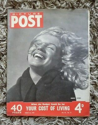 Picture Post Magazine Mar 26 1949 Marilyn Monroe Cover