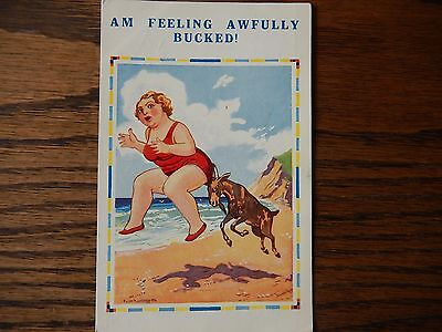 Saucy Vintage Seaside Humour Postcard, #3762V  in Good Condition 1937