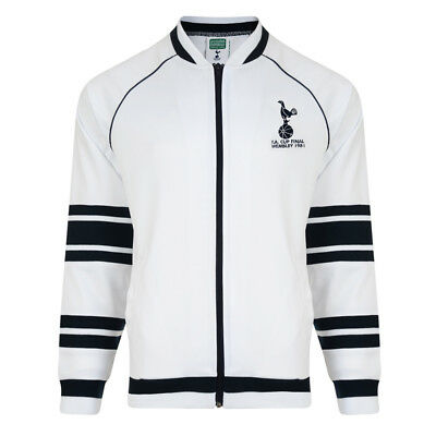 Official Retro Tottenham Hotspur 1981 FA Cup Final Track Jacket 100% POLYESTER