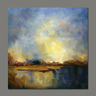 Modern decor hand painted Abstract Landscape art oil painting canvas cloud sky