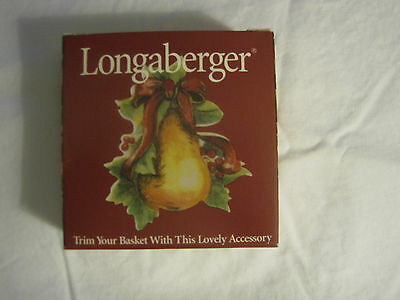 "Longaberger Tie-On ""merry Christmas"" Dated 2000 Nib #36633"