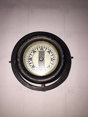 Vintage Iron And Brass Ships Compass ( Gymballed) 44-2