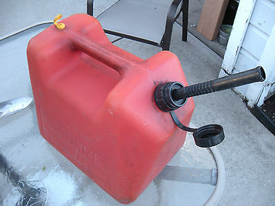 Vintage Blitz 5 Gallon Gas Can with Spout and Cap