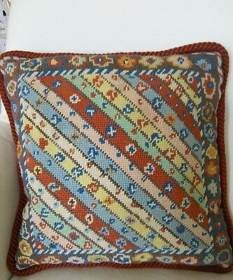"Vintage Needlepoint Tapestry Cushion 13"" x 13"""