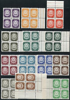 42/Lettland Latvia 1940 Coat of Arms Wappen Freimarken 292-304 Blocks/4 ** MNH