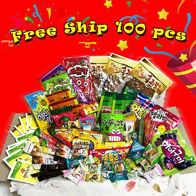 Korean Snacks Gift BOX Variety 10 to 100 Coffee Candy Gummy Tea Asian Snack food