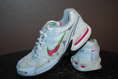 Nike Torch 4 Girl's Athletic Shoes - Size 13.5 C - White, Pink, Green