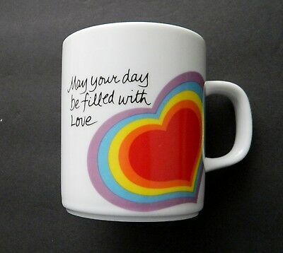 """The Love Mug - Avon 1984 - Coffee Cup / Mug """"May your day be Filled with Love"""""""