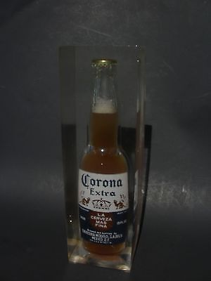 Vintage Real Corona Beer Bottle In Lucite Advertising 5 Lb Big Chunk Bar Display