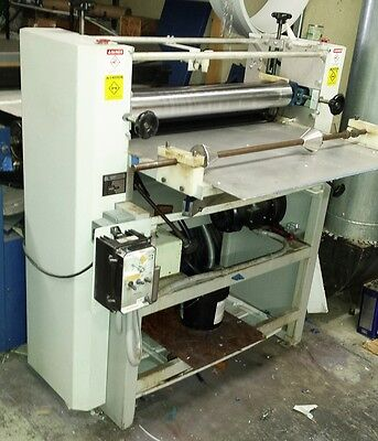 """TEC Lighting 30"""" roller coater for liquid laminating printed vinyl and signs."""