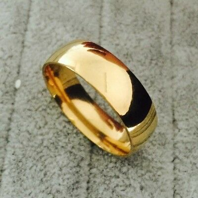 stainless steel Vintage plated ring band engagement men jewelry