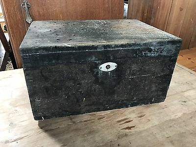 Black Vintage Box Industrial Display Chest Trunk