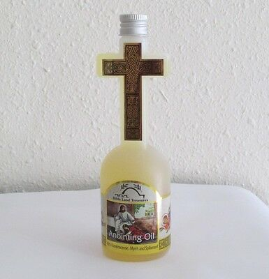 Bible Lands Treasure Frankincense Myrrh Spikenard Anointing Oil Cross 4 FL OZ