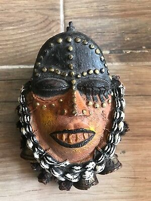 African Art Cameroon HAND MADE ART MASK Bowl Type Container