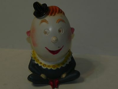 Humpty Dumpty Piggy Bank Vintage 1958 Mold Craft Original metal Stopper in place