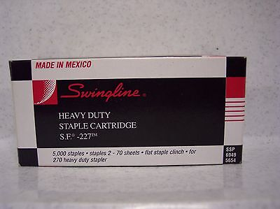 Swingline Heavy Duty Staple Cartridge S.f. 227 5,000 Staplers Ssp6949 5654 Acco