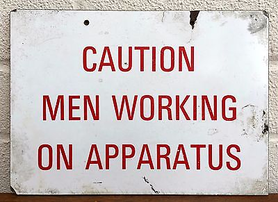Southern Electricity Board -Caution, Men Working On Apparatus- Vintage Seb Sign